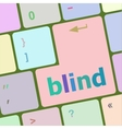 Modern keyboard key with words blind vector image