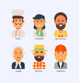people of different professions on a white vector image