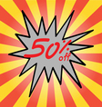 Sale 50 text vector image