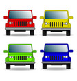 set of colorful cars front view vector image