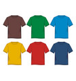 tempalate t-shirt colorful vector image