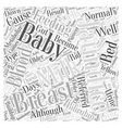 Breast Feeding And Jaundice Word Cloud Concept vector image