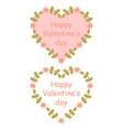 colorful floral hearts vector image vector image