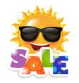 sun smile sale vector image