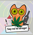 no smoking poster social banner about narcotic vector image