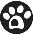 dog paw icon vector image