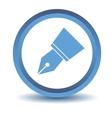 Blue Pen icon vector image