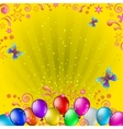 balloons and butterflies vector image vector image