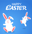 cartoon rabbit easter vector image