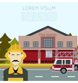 Fire Station Banner3 vector image