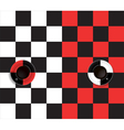 black and red and white and black coffee cup vector image