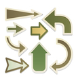 Eco arrows vector image