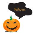 Emotional Halloween pumpkins vector image