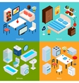 Isometric Interior Set vector image