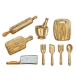 kitchen tools Kitchenware appliances vector image