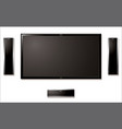 LCD television with speakers vector image