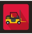 Stacker loader icon in flat style vector image