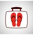 travel concept flip flops beach vector image