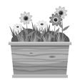 icon gray monochrome style vector image