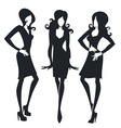 collection of fashionable girls images vector image vector image