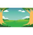 Green Forest Landscape Background vector image