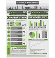 INFOGRAPHIC WORK GREEN vector image