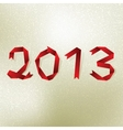 New 2013 year greeting card  EPS8 vector image vector image