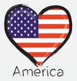 love america flag vector image vector image