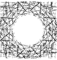 Background Scratched Frame vector image vector image