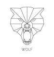 Wolf head geometric style print t-shirt vector image