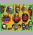 east  Asian masks vector image