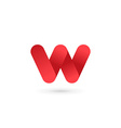 Letter W logo icon design template elements vector image