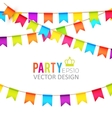 Party Flags Design with vector image