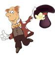 a magician cartoon vector image