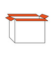 cardboard box icon image vector image