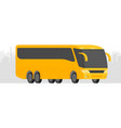 corner view bus on the road with city background vector image