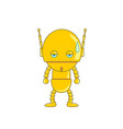 cute robot isolated vector image
