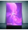 Floral transparent flyer banner or cover design vector image