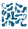 Footwear graphical icons collection vector image