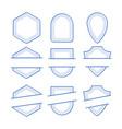 geometric frames set vector image