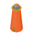 lighthouse beach icon isometric 3d style vector image