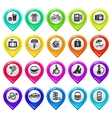 Map marker with icons-set two vector image