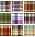 set of seamless checkered vector pattern vector image