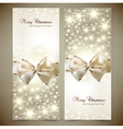 Greeting cards with white bows and copy space vector image vector image