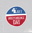 Independence day greeting badge patriotic design vector image