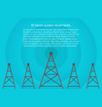 telecommunications cellular towers in volumetric vector image