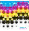 Abstract CMYK Halftone Background vector image