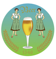 vintage retro label beer restaurant vector image