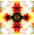 Triangular Mosaic Orange Background vector image vector image