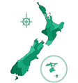 New Zealand contour map vector image